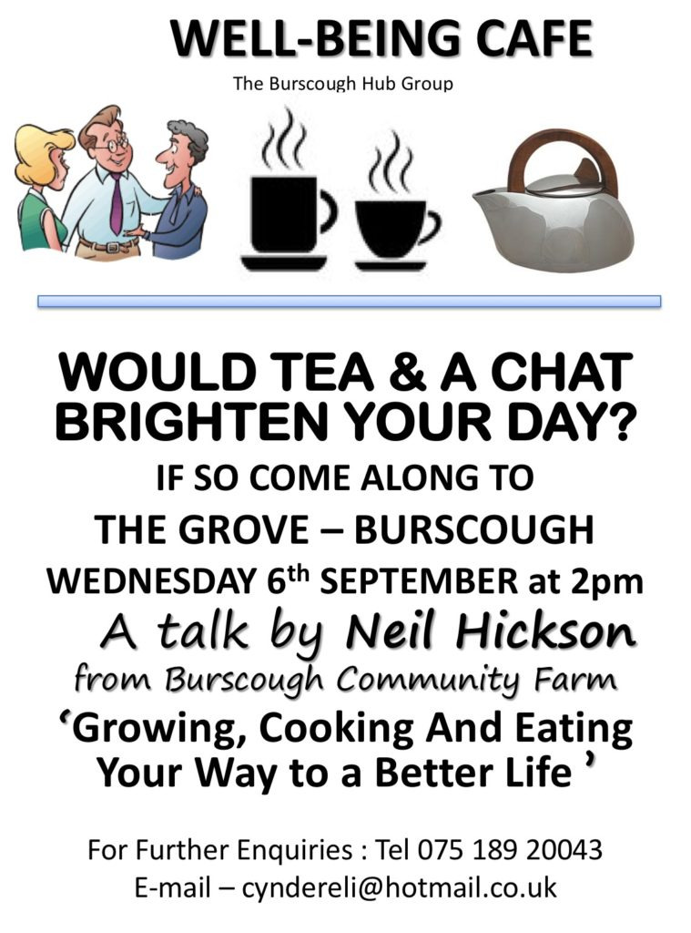 Wellbeing Cafe Launch Poster